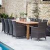 St Mawes Refectory 10 Seater Garden Dining Table in Teak