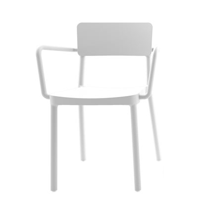 LISBOA RESIN ARMCHAIR in White