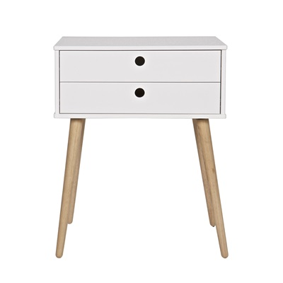 Retro 2 Drawer Side Table In Pine Side Amp Coffee Tables
