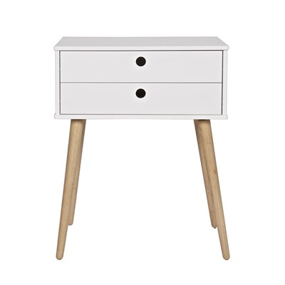 Retro 2 Drawer Side Table Woood Cutout 1.