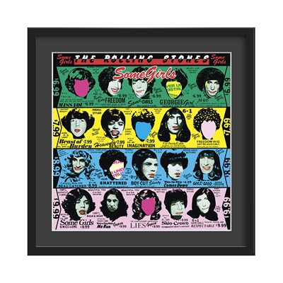 THE ROLLING STONES FRAMED ALBUM WALL ART in Some Girls Print
