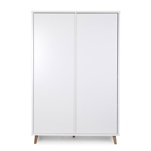 Contemporary Children's White Wardrobe with 2 Doors