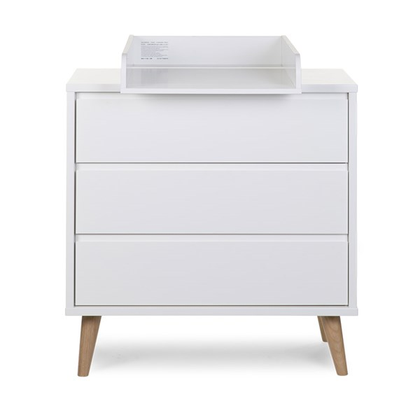 Children's White Dresser with Removable Changing Table