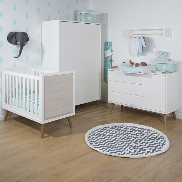 Retro Rio White Nursery Furniture Set