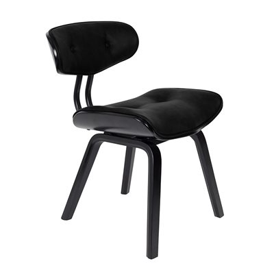 Dutchbone Blackwood Retro Lounge & Desk Chair in Black