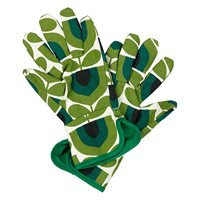 Orla Kiely Potting Gardening Gloves in Striped Tulip Pine