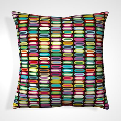 CUSHION in Lozenge Abstract Design