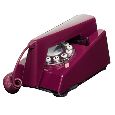 1970's RETRO TRIM TELEPHONE in Purple