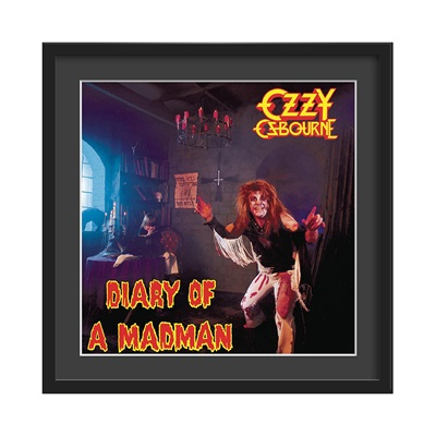 OZZY OSBOURNE FRAMED ALBUM WALL ART in Diary of a Madman Print