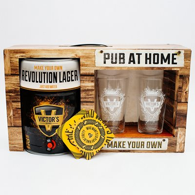 VICTOR'S DRINKS REVOLUTION LAGER PUB AT HOME KIT