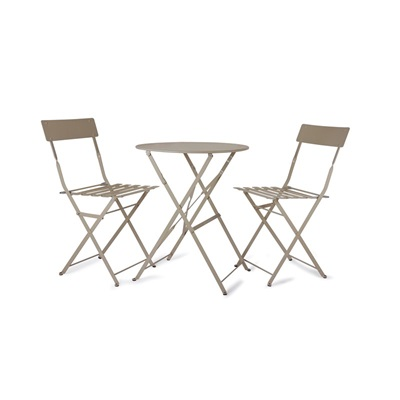 2 SEAT ROUND TABLE & CHAIR BISTRO SET in Gooseberry by Garden Trading