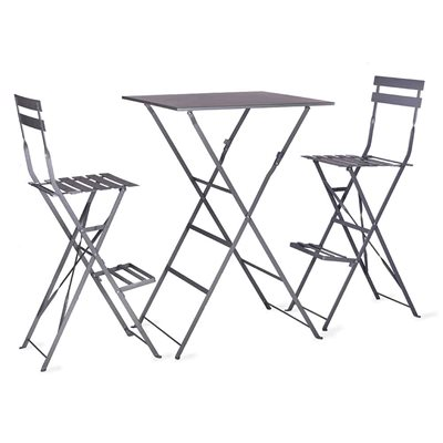 Garden Trading Rive Droite Bistro Bar Set in Charcoal