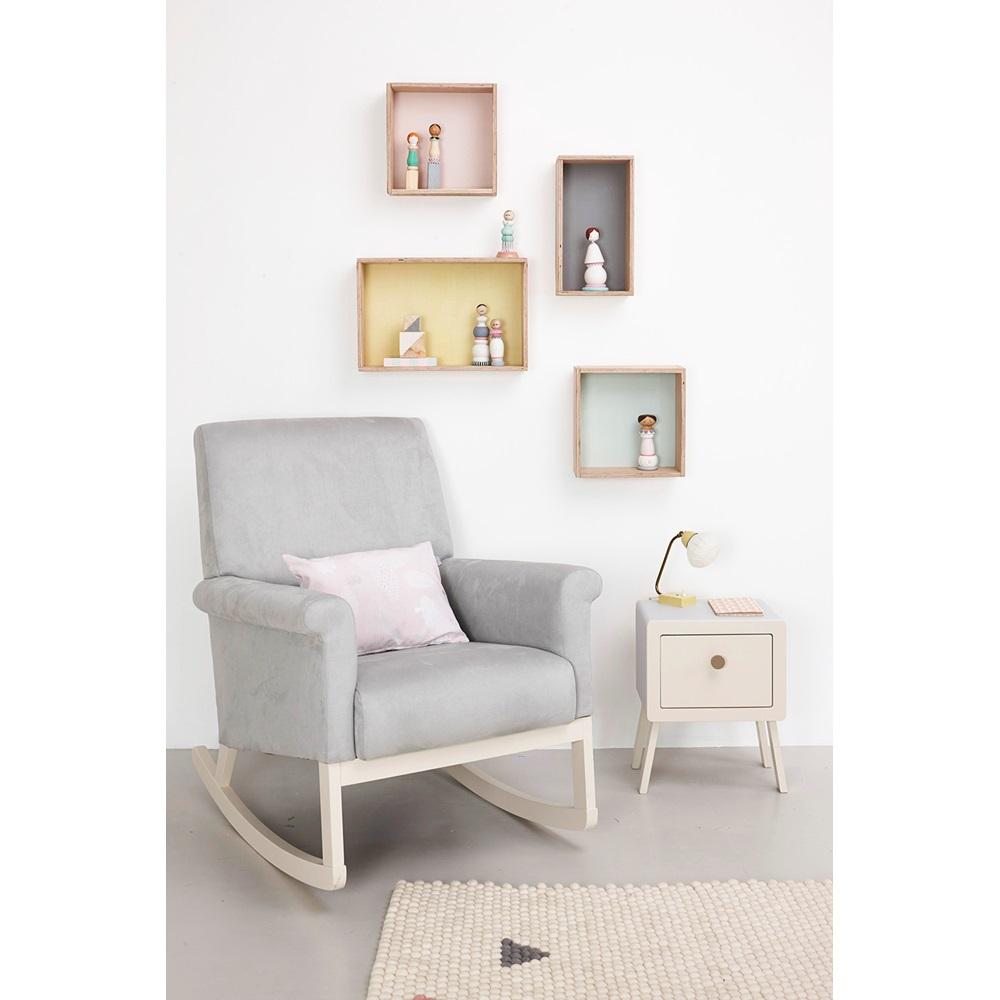 olli ella ro ki rocker nursery chair in dove grey olli. Black Bedroom Furniture Sets. Home Design Ideas
