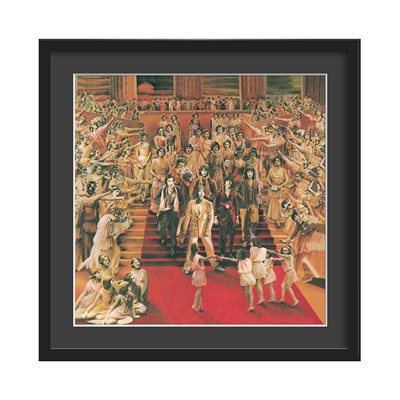 THE ROLLING STONES FRAMED ALBUM WALL ART in It's Only Rock N Roll Print