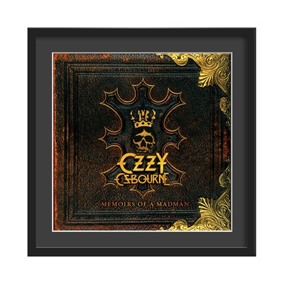 OZZY OSBOURNE FRAMED ALBUM WALL ART in Memoirs Of A Madman Print
