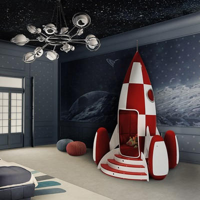 ROCKY ROCKET KIDS ARMCHAIR with Built-In Light & Sound System