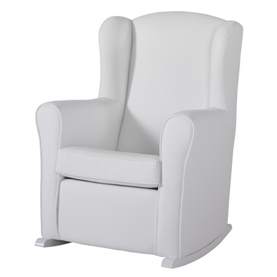 nursing chair in white leatherette - nursing chairs | cuckooland