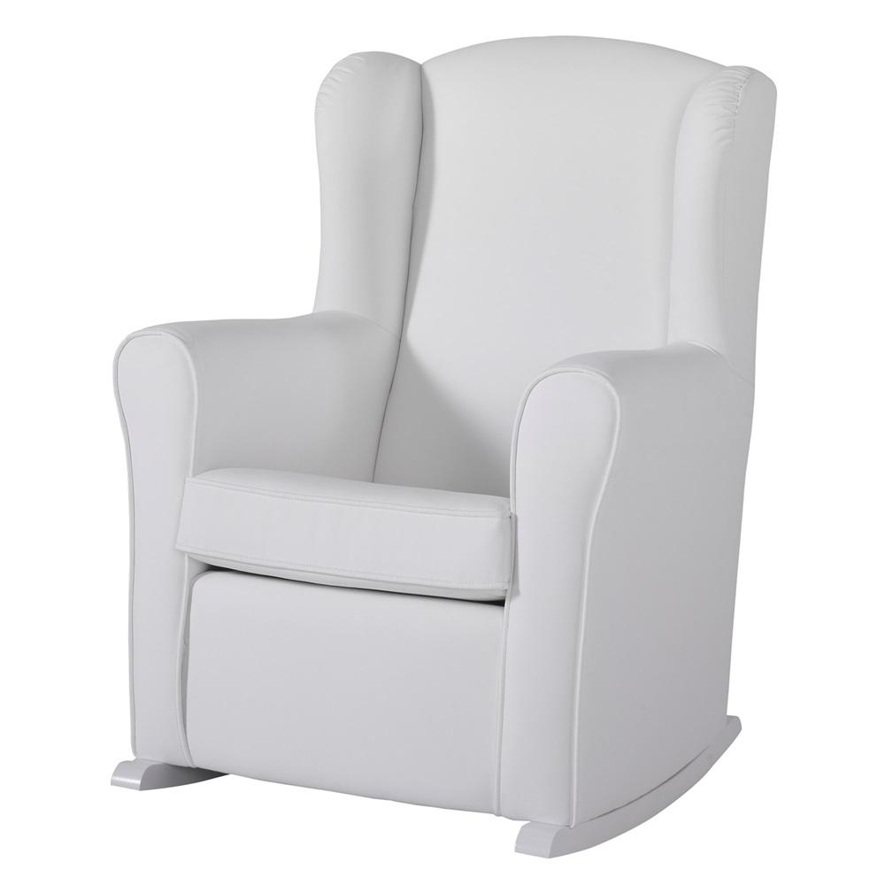 nursing chair in white leatherette nursing chairs. Black Bedroom Furniture Sets. Home Design Ideas