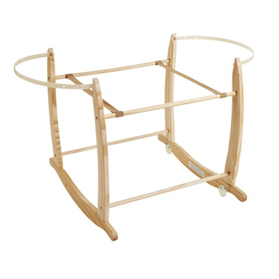 DELUXE ROCKING MOSES BASKET STAND in Natural