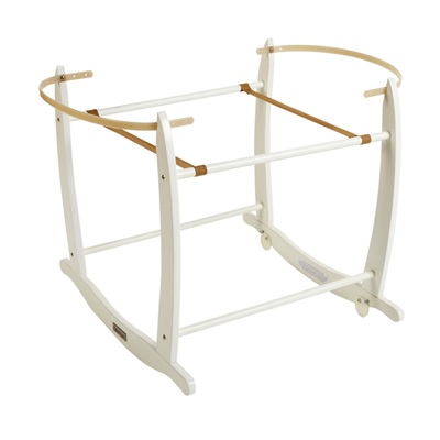 DELUXE ROCKING MOSES BASKET STAND in White