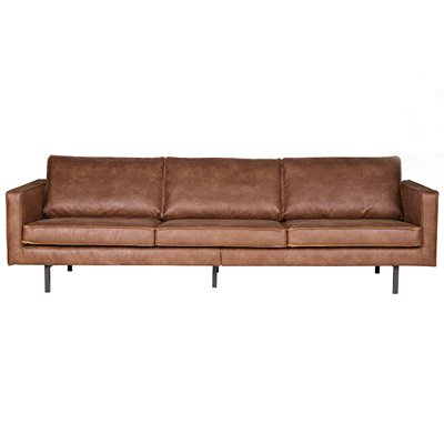 Rodeo 3 Seater Leather Sofa in Tan by Be Pure Home