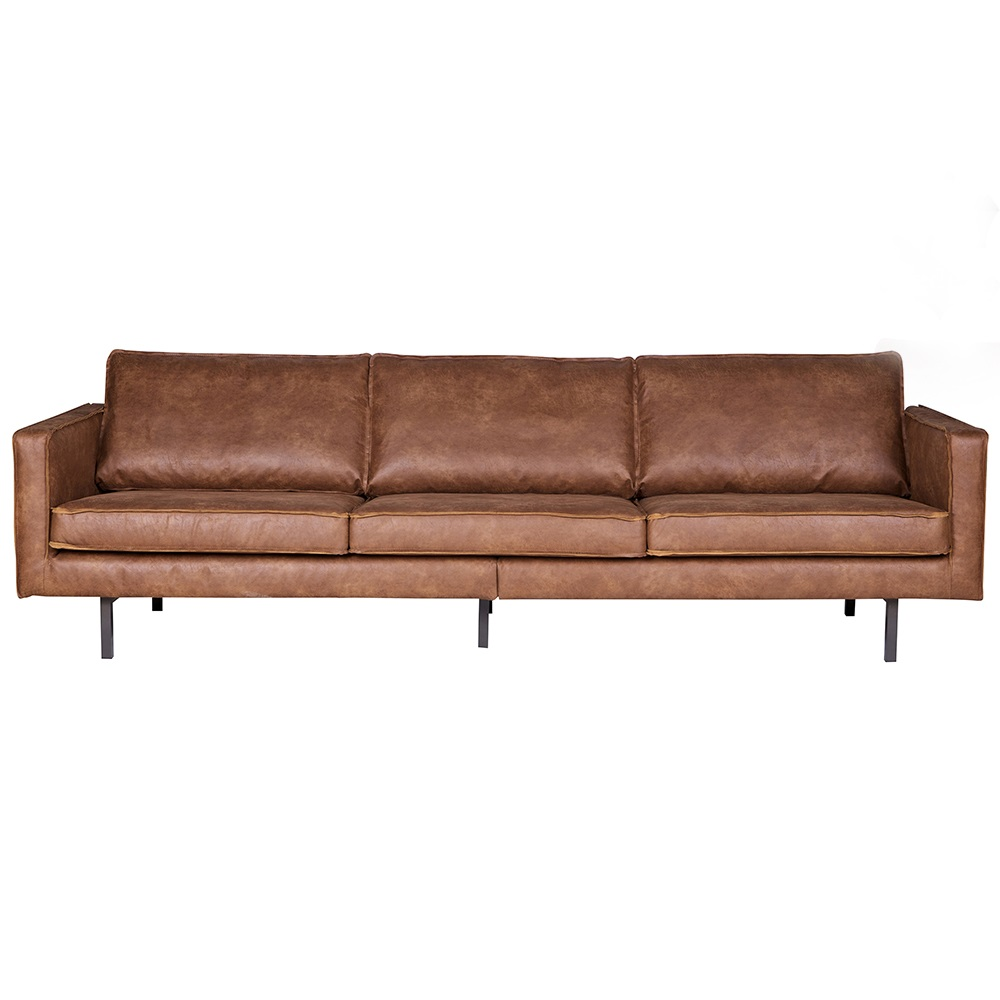 rodeo 3 seater leather sofa in tan be pure home cuckooland. Black Bedroom Furniture Sets. Home Design Ideas