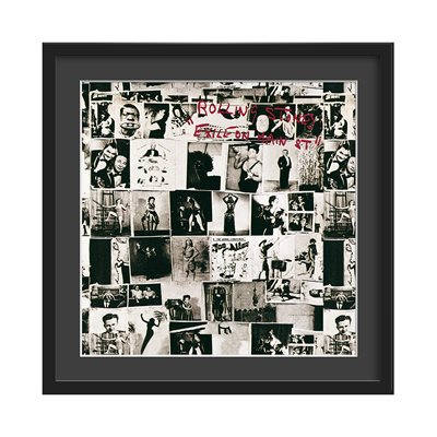 THE ROLLING STONES FRAMED ALBUM WALL ART in Exile On Main Street Print