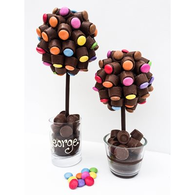 PERSONALISED CHOCOLATE ROLO & SMARTIE SWEET TREE