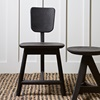 Wooden Dining Chair and Side Table