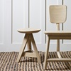 Natural Wooden Chair and Stool