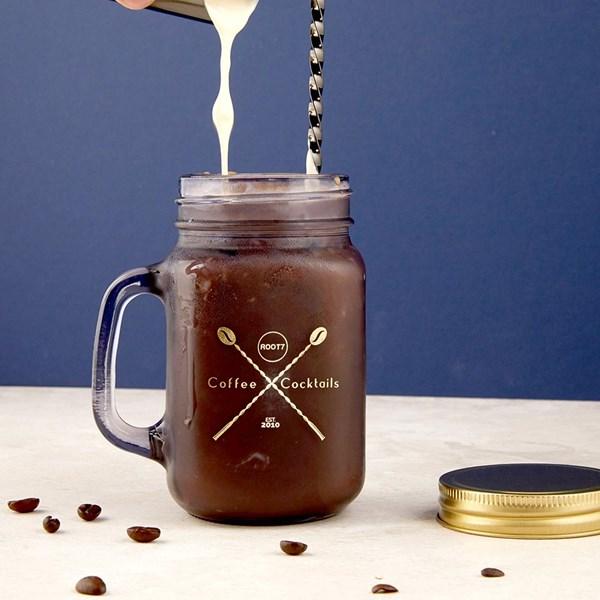 Coffee & Cocktails Mason Jar Set