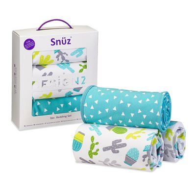 Snuz Crib 3-Piece Baby Bedding Set in Rootin Tootin