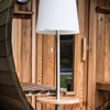 Roots Outside Patio Solar Light with Integrated Teak Table