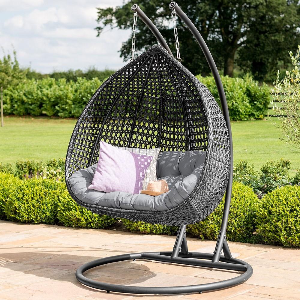 Maze Rattan Rose Outdoor Hanging Chair Maze Rattan