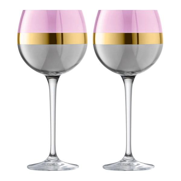 LSA International Bangle Balloon Glasses in Rose Pink