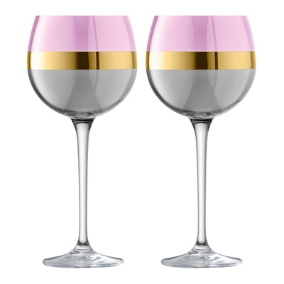 LSA BANGLE BALLOON GLASSES in Rose