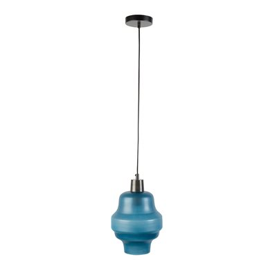 ROSE GLASS PENDANT LIGHT in Blue