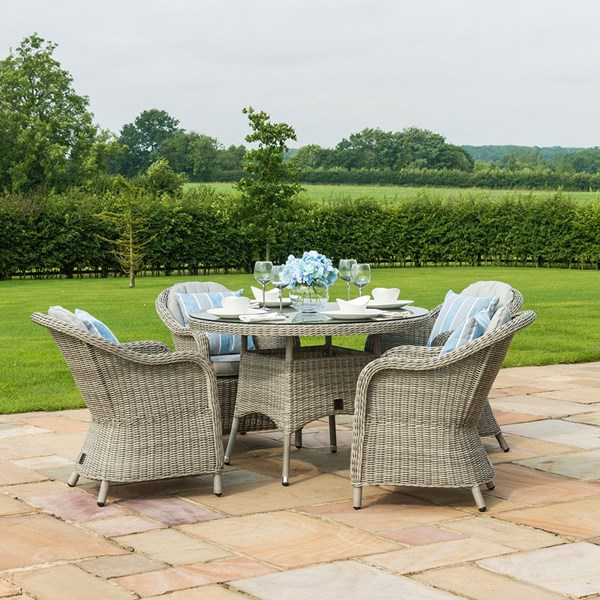 Oxford Round 4 Seat Outdoor Dining Set
