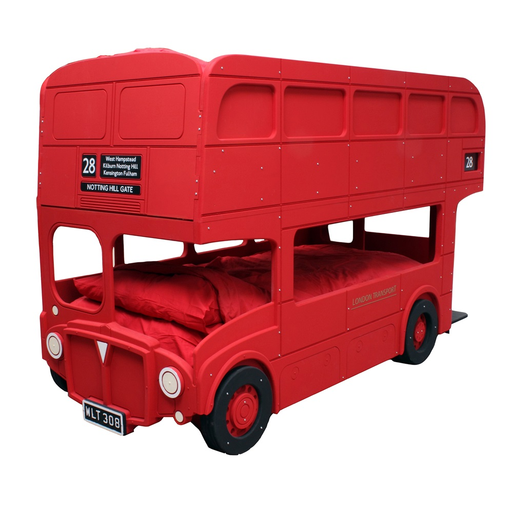 Route master london bus bunk bed boys beds cuckooland - Double decker bed ...