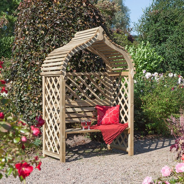 Rowlinson Jaipur Garden Arbour in Natural Timber