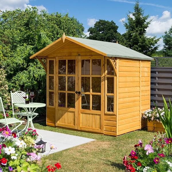 Rowlinson 7x5 Wooden Garden Summerhouse