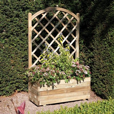 Rowlinson Rectangular Planter & Lattice