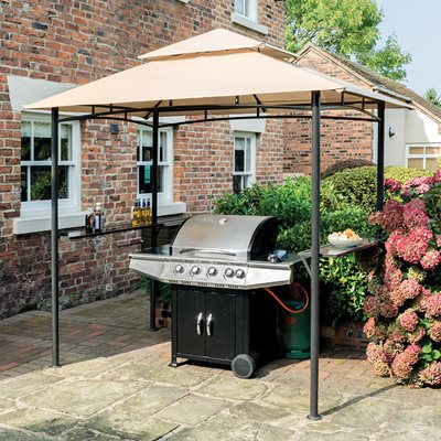 ROWLINSON ROMA BBQ GAZEBO in Taupe