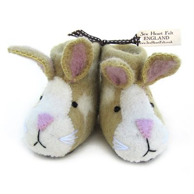 CHILDREN'S Animal Slippers in Ruby Rabbit Design