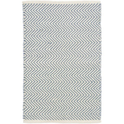 INDOOR OUTDOOR ARLINGTON RUG in Swedish Blue Ivory