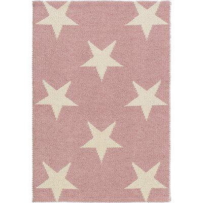 INDOOR OUTDOOR STAR RUG in Pink Ivory