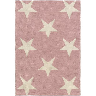 INDOOR OUTDOOR STAR RUG in Pink Ivory