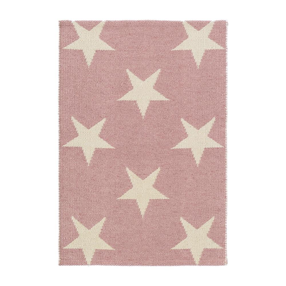 Indoor Outdoor Star Rug In Pink Ivory - Rugs