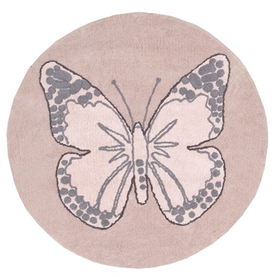 KIDS WASHABLE RUG in Butterfly Design