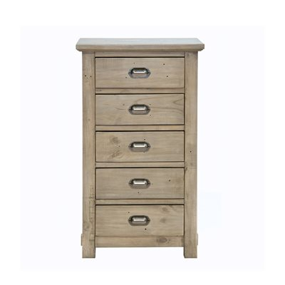 WILLIS & GAMBIER WEST COAST DISTRESSED TALL CHEST with 5 Drawers
